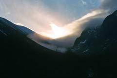 Light leaving the glen, shot on c200 Pentax-mx by Sophie Armshaw, 2017. (Sophie Armshaw) Tags: nature landscape sunset scotland highlands light film 35mm pentaxmx c200