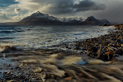The Black Cullins (jakeof) Tags: isleofskye scotland cuillins elgol water waves clouds beach rocks