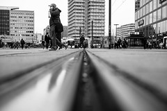 On Track (mripp) Tags: berlin alex alexanderplatz urban city stadt metropolis world retro vintage old black white mono monochrome schwarz schwarzweiss art kunst leica m10 summicron 50mm schiene track