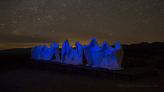 The Last Supper at Night (Jeffrey Sullivan) Tags: thelastsupper goldwell open air museum rhyolite nevada night light painting desert united states usa landscape nature canon eos 6d road trip photo copyright 2017 march jeff sullivan abandoned historic mining town forthearts