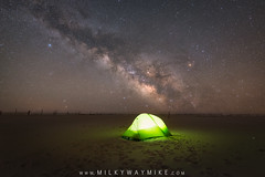 Camping Under The Stars (Mike Ver Sprill - Milky Way Mike) Tags: camping tent camp beach assateague island national seashore park sand maryland alone solitude milky way mike galaxy universe cosmos space astrophotography astronomy astro ioptron star tracker gazing gazer lit up light long exposure landscape nightscape night sky