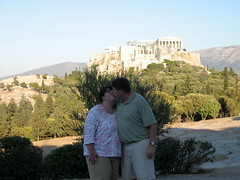 176 - Scott & Jaime & Acropolis (Scott Shetrone) Tags: family people other events places athens parthenon greece monuments acropolis 5th anniversaries filopapposhill jaimeshetrone scottshetrone thepnyx