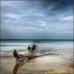 Escena de pesca (bit ramone) Tags: fishing fishermen burma myanmar pesca pescadores birmania ngwesaung bitramone pentaxk5