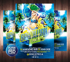 Brazilian Touch Flyer Template (grandelelo) Tags: party summer brazil beach birds rio brasil photoshop poster de cool flyer samba janeiro awesome touch free latin tropical carnaval independence psd festa a5 brasileiro template canival independencia verao brazillian folheto cs6 cs5 graphicriver grandelelo