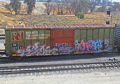SERPCUATE (KNOWLEDGE IS KING_) Tags: railroad art yard train bench graffiti paint wheels tracks railway rails railfan freight benched