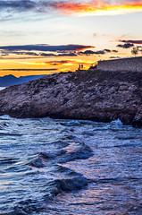 El ocaso del día / The decline of the day (aldairuber) Tags: sunset sea españa beach mar wave playa puestadesol olas ocaso cataluña tarragona salou