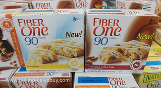 Fiber One 90 Calorie Lemon Bar Cinnamon Coffee...