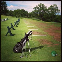 Empty lineup. #annarbor #michigan #golf #summer (bryan elkus) Tags: square squareformat mayfair iphoneography instagramapp uploaded:by=instagram