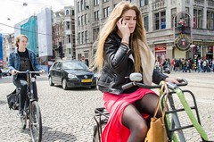 I am almost there (105mm) Tags: street portrait people woman sun sexy girl dutch amsterdam fashion bike bicycle portraits shopping happy outfit women funny pretty phone view legs candid telephone streetphotography streetportrait style streetlife mini skirt blond upskirt earphone seethrough portret pantyhose stad telefoon fiets streetwear mensen streetfashion streetportraits streetstyle straatportret