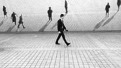 Le passant passé (Bernard Chevalier) Tags: street paris lumière ombre passage rue placevendome mouvement trompeloeil pavés piéton flickrandroidapp:filter=orca