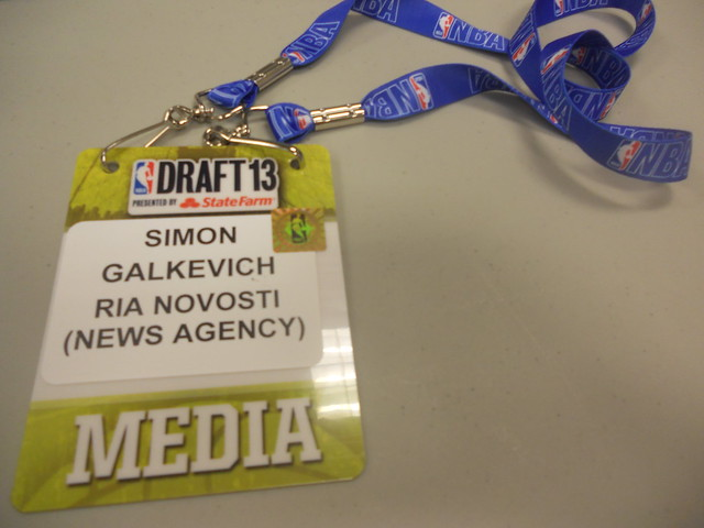 My Credential for 2013 NBA Draft