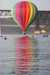 Balloon (historygradguy (jobhunting)) Tags: ny newyork reflection water river flying balloon flight upstate poughkeepsie hotairballoon hudsonriver dutchesscounty hudsonvalley herowinner hudsonvalleyballoonfestival itisballoon