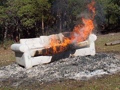 couch burning (lao_ren100) Tags: outdoors fire furniture couch burn destroy laoren100