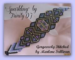 Sparkling - Brick Stitch Cuff/Bracelet PATTERN (Trinity Designer Jewelry) Tags: diy jewelry cuff beadwork beadweaving instructioins beadingpattern brickstitchpattern