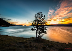 Nordegg Sunrise (Yvon Landry) Tags: sunrise landscape lakes alberta nordegg