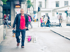 Man with a red shirt (Samuele Silva) Tags: world street wood city travel blue people urban house holiday color building tourism water beautiful norway architecture buildings bay boat town wooden colorful europe cityscape exterior view traditional vessel scene tourist norwegian bergen scandinavia exploration bryggen scandinavian fotodistrada