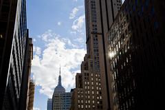 (lkaloti) Tags: nyc newyorkcity blue newyork reflection architecture clouds canon photography skyscrapers manhattan empirestatebuilding lightroom canon6d