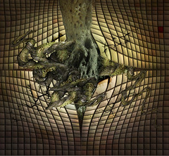 Roots in the wall (jaci XIII) Tags: muro wall surrealism trunk root tronco raiz surrealismo