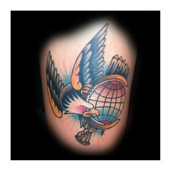 eagle on globe (elidraughntattoos) Tags: house tattoo traditional safe apprentice