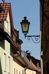 Roofscape And Lantern (gripspix (OFF)) Tags: roof germany bayern deutschland bavaria franconia lantern franken laterne dach impression eindruck prichsenstadt 20130821