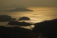 Golden glow (HDH.Lucas) Tags: sunset sky mountain nature silhouette landscape twilight ship lucas cannon