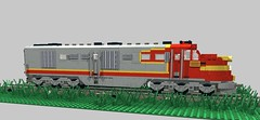 SF DL107 Take 2 (swoofty) Tags: sf train lego render mlcad alco ldraw dl107 dl109