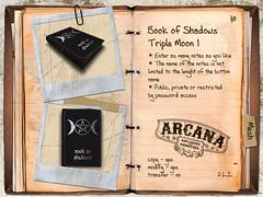 Book of Shadows Triple Moon 1 (Morgana Brid) Tags: life book shadows witch library magic decoration libro sombra books second marketplace libros wicca magia bruja librera decoracin