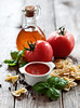 Tomato sauce (Yulia1980) Tags: red italy food green cooking closeup tomato pepper cuisine leaf juicy bottle healthy italian mediterranean dish ketchup sauce background traditional spice tasty bowl vegetable pasta fresh gourmet delicious homemade meal vegetarian basil salsa herb freshness bolognese nutrition ingredient farfalle