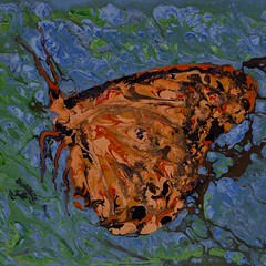 Hanging out on the leaves - Abstract Poured Painting (nashkevin12) Tags: abstractseascape abstractbutterflies abstractpouredpainting abstractpouredpaintings