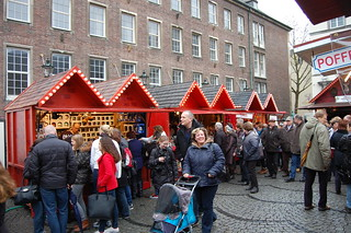 sfeervolle kerstmarkt in Düsseldorf