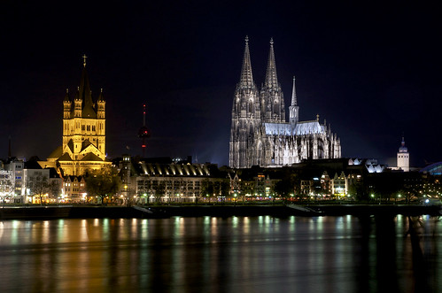 »St. Martin & Cathedral« – Colonia-Night BXLIII - 195x