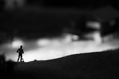 Miniature Man (Fotograf aus Passion.) Tags: light sea bw white man black alex canon dark eos see licht miniature bokeh hell 7d sw alexander 60mm makro schwarz figur dunkel miniatur weis alpha4 harbich