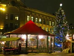 Christmas Market on Dom Square in Old Town of Riga, Latvia. December 11, 2013 (Vadiroma) Tags: snow building radio europe christmasmarket christmastree baltic latvia riga lettland rga latvija baltikum lettonie 2013 vision:sunset=0595 vision:plant=0627 vision:outdoor=0555