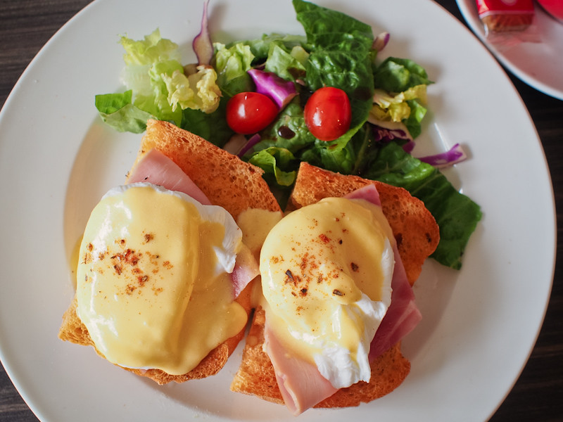 Habitat Coffee Eggs Benedict