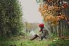 I cannot live without books (L e t i) Tags: autumn red fall beauty nikon fairy linda rosso nikond700 lvphotography