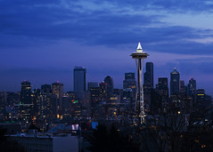 Seattle skyline from Kerry Park (The Reluctant Fisherman) Tags: seattle skyline kerrypark bluehour seattleskyline 2103 d600 nikond600 nikon28105f3545afd