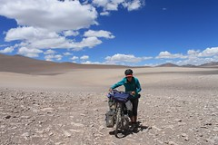 Pushing across to the Salar de Antofalla