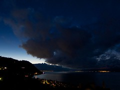 the Apocalypse (Riex) Tags: morning sky cloud lake dark dawn switzerland suisse lac ciel sombre nuage leman matinee vaud lavaux aube explored s95 canonpowershots95