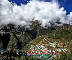 Namche Bazaar, Khumbu, Nepal (Feng Wei Photography) Tags: travel nepal cloud mountain color tourism expedition beautiful beauty vertical horizontal rural forest trekking trek relax landscape scenery colorful asia tour view outdoor relaxing scenic peaceful unesco journey vista remote lush himalaya khumbu everest himalayas guesthouse ebc namchebazar namche sagarmatha namchebazaar solukhumbu