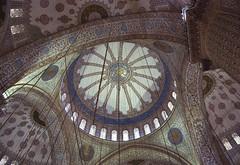 (ajandok gyenis) Tags: architecture turkey interior istanbul mosque bluemosque nikond60 {vision}:{text}=0527 {vision}:{outdoor}=0779