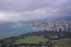 Honolulu (malinowy) Tags: trip vacation usa volcano hawaii us nikon holidays unitedstates oahu hike trail crater caldera diamondhead honolulu nikkor hnl 1870 wakacje diamondheadcrater hawaiianislands malinowy d7000 malinowynet