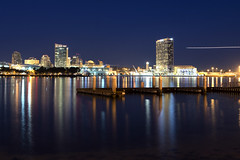 Bay (Rafakoy) Tags: california longexposure water colors night digital reflections bay cityscape sandiego coronado afsnikkor2470mmf28ged nikond800