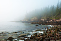 Acadia National Park, Maine (Greg from Maine) Tags: ocean seascape fog landscape nationalpark waves maine shoreline foggy acadia mountdesertisland acadianationalpark ottercliff vision:mountain=0552 vision:ocean=0636 vision:outdoor=0917 vision:clouds=0613 vision:sky=0909