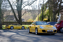 Team Yellow (MJParker1804) Tags: yellow speed spider fly 911 ferrari turbo giallo porsche v8 f355 996 355