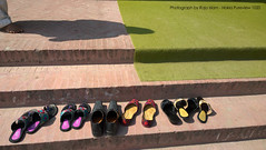 Guess the shoes (Raja Islam) Tags: pakistan man carpet shoe shoes guess steps punjab chappal