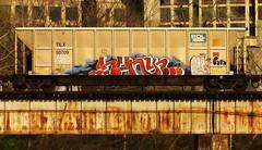 HUNT (BLACK VOMIT) Tags: car train graffiti ol south dirty mc dos crew coal mayhem freight cru hunt ssp wh lyes hence coalie