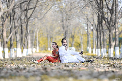 Yellow wood (Jaskiran Singh Batra) Tags: wood wedding tree yellow forest happy photography nikon couple punjab nikkor f28 mohali chandigarh punjabi 70200mm d610 gabru mutiyar jaskiran postwed jaskiransinghbatra