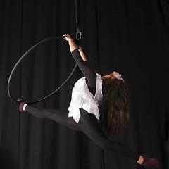 Aerial dance hoop (marisolcollier1) Tags: ballet black hoop dance contemporary dancer lyra split splits aerialdance aerialhoop