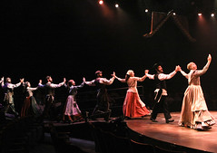"A scene from the Music Circus production of ""Fiddler on the Roof"" at the Wells Fargo Pavilion Aug 14-19. Photo by Charr Crail."