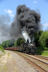 NKP 765 on Youngstown Line: 7 (craigsanders429) Tags: steamtrain norfolksouthern steamtrains steamlocomotives nkp765 nickelplateroad765 nsyoungstownline nickelplate765 steamexcursions
